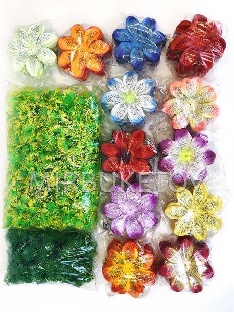 """Искусственные цветы Крокуса """"Собери сам"""", атлас, 120 мм"""