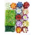 """Искусственные цветы Крокуса с точками """"Собери сам"""", атлас, 120 мм"""
