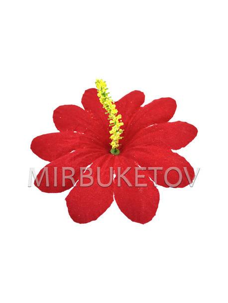 Искусственные Пресс цветы с тычинкой Пиретрум, бархат, красный, 130 мм