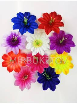 Искусственные Пресс цветы со вставкой и тычинкой Звездочка, атлас, микс, 130 мм