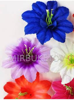 Пресс-цветок со вставкой и тычинкой Звездочка, атлас, микс, 130 мм
