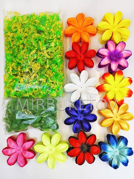 """Искусственный цветок Крокуса """"Собери сам"""", атлас, 120 мм"""