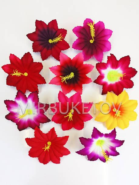 Искусственные Пресс цветы с тычинкой Лилия, бархат, микс, 100 мм