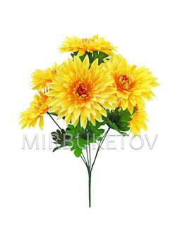 Искусственные цветы Букет Георгины, 6 голов, 450 мм