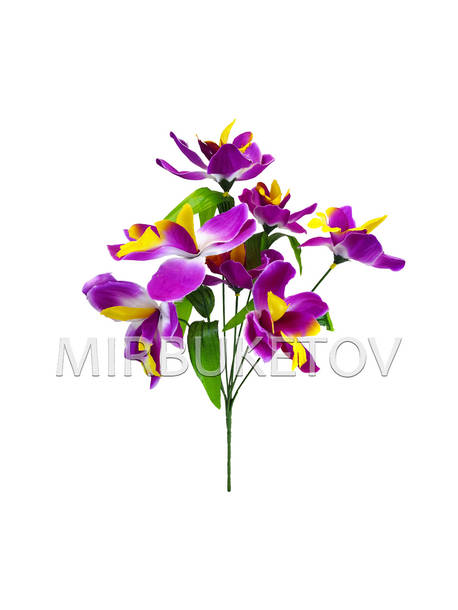 Искусственные цветы Букет Орхидеи, 7 голов, 360 мм