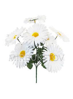 Искусственные цветы Букет Ромашка белая, 7 голов, 430 мм