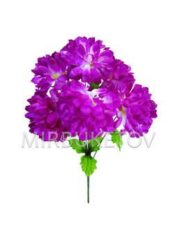 Искусственные цветы Букет Георгины резной, 6 голов, 450 мм