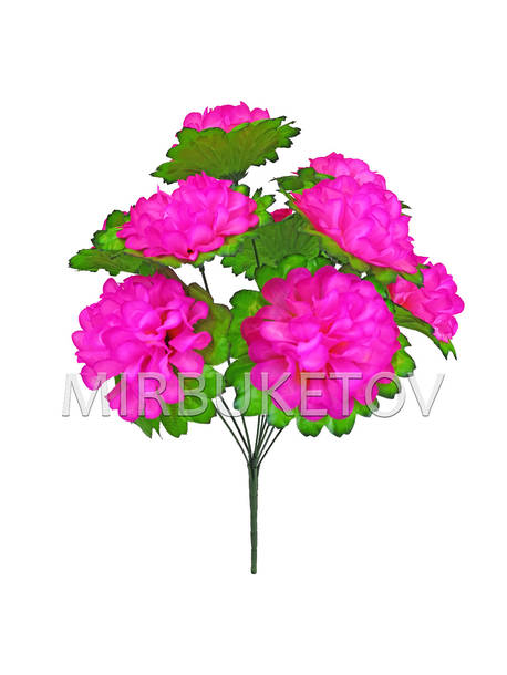 Искусственные цветы Букет Георгины, 9 голов, 440 мм