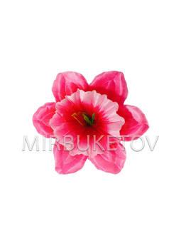 Пресс цветок с тычинкой Нарцисс, атлас, микс, 120 мм,