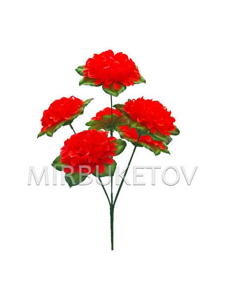"""Букет искусственная Георгина """"Шар"""", 6 голов, красный, 410 мм"""