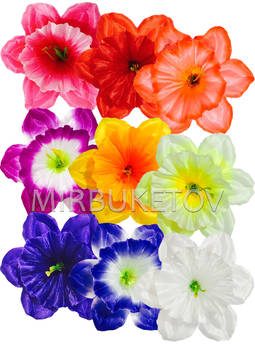 Пресс цветок с тычинкой Нарцисс, микс, 120 мм,
