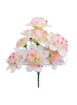 Искусственные цветы Букет Георгин, 9 голов, 430 мм