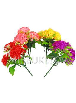 Искусственные цветы Бордюрный букет Георгины, 5 голов, микс, 210 мм