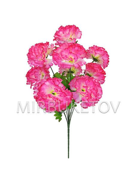 Искусственные цветы Букет Гвоздики, 9 голов, 470 мм