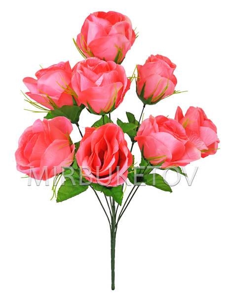 Искусственные цветы Букет Роз, 8 голов, 690 мм