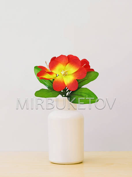 Искусственные цветы Бордюрный букет Орхидеи, 5 голов, микс, 240 мм