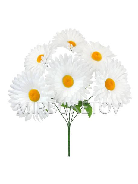 Искусственные цветы Букет Ромашки белой, 6 голов, 440 мм