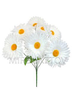 Искусственные цветы Букет Ромашки белой, 7 голов, 440 мм