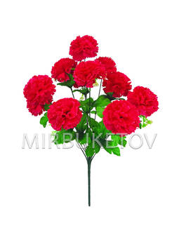 Искусственные цветы Букет Гвоздики, 11 голов, 470 мм