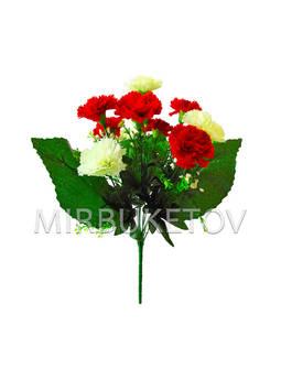 Искусственные цветы Букет Гвоздики, 13 голов, 370 мм
