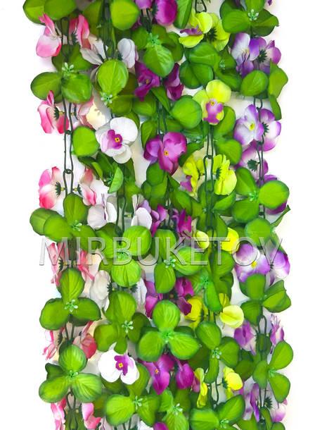 Искусственная лиана Орхидея с листом, 190 см