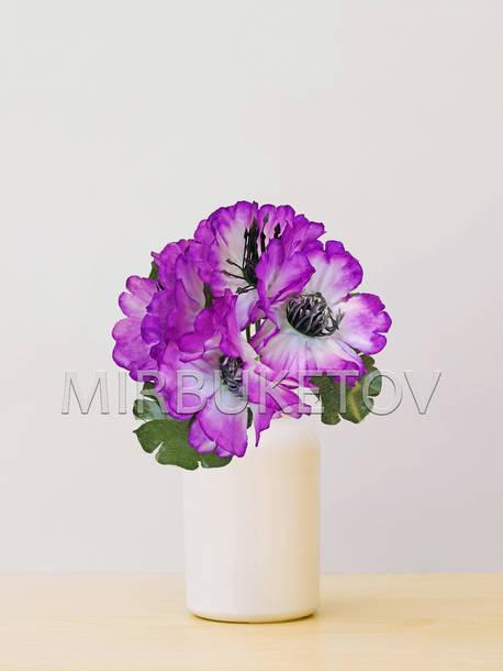 Искусственные цветы Бордюрный букет Мальвы, 5 голов, микс, 240 мм