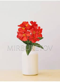 Искусственные цветы Бордюрный букет Фиалки, 12 голов, микс, 250 мм