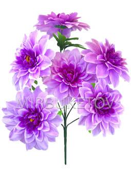 Искусственные цветы Букет Хризантемы, 6 голов, 630 мм