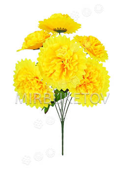 Искусственные цветы Букет Георгин, 6 голов, 600 мм