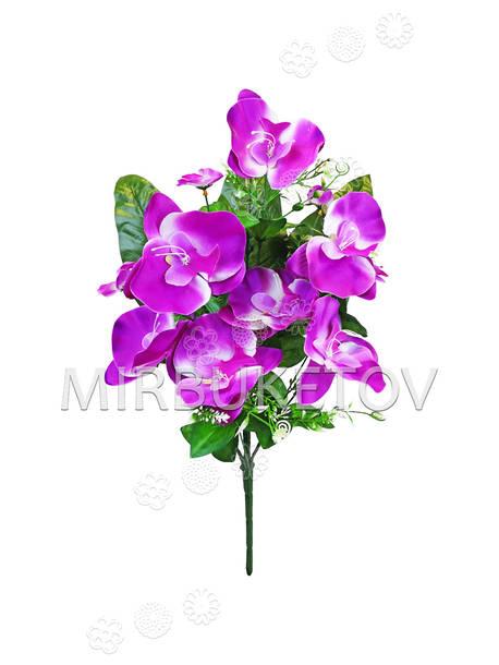 Искусственные цветы Букет Орхидеи, 11 голов, 460 мм