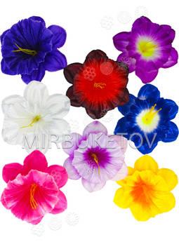 Пресс цветы с тычинкой Нарцисс, атлас, 120 мм