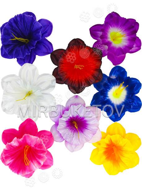 Искусственные Пресс цветы с тычинкой Нарцисс, атлас, 120 мм