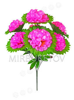 Искусственные цветы Букет Георгин, 7 голов, 560 мм