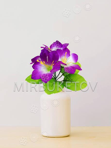 Искусственные цветы Бордюрный Букет Мальвы, 5 голов, 220 мм