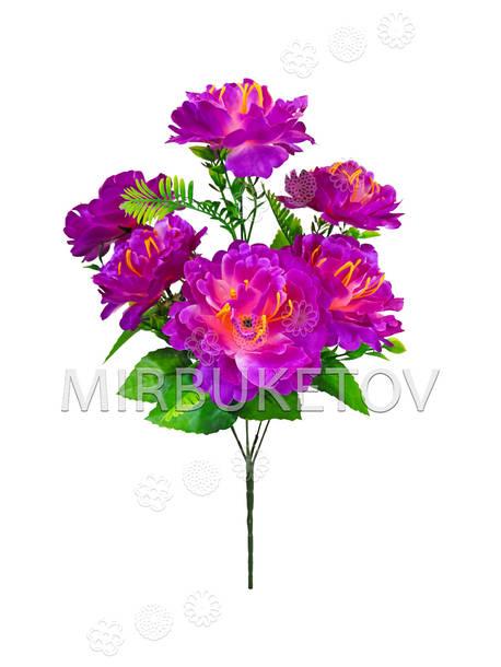 Искусственные цветы Букет Пиона, 6 голов, 500 мм