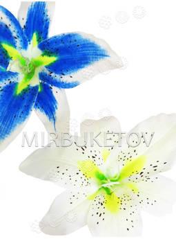 Цветок искусственной Лилии, шелк, 200 мм