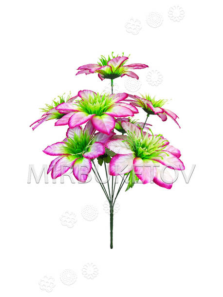 """Искусственные цветы Букет Герберы """"Лесная Мавка"""", 7 голов, 400 мм"""