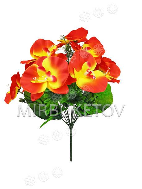 Искусственные цветы Букет Орхидеи, 13 голов, 450 мм