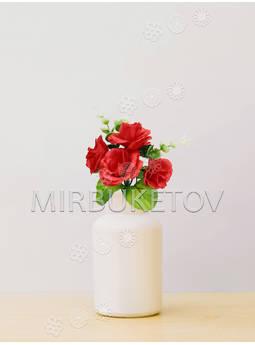 Букет заливка искусственной Розы, 5 голов, 220 мм