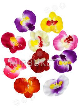 Искусственные цветы Орхидеи, шелк, микс, 80x100 мм