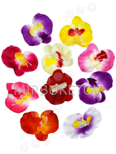Цветок искусственной Орхидеи, шелк, 80x100 мм