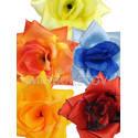 Искусственные цветы Роза открытая, атлас, микс, 145 мм