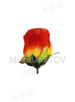 Искусственный бутон розы, люкс, шелк, 100 мм
