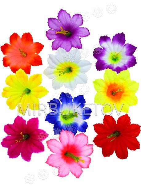 Искусственные Пресс цветы с тычинкой Лилия резная, 95 мм