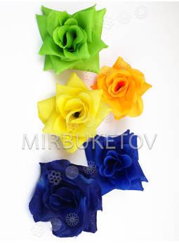 Искусственные цветы Роза открытая, шелк, микс, 125 мм