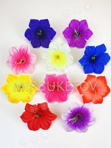 Искусственные пресс цветы со вставкой и тычинкой Петуния, 135 мм