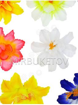 Пресс-цветок со вставкой тычинкой Гибискус резной, 90 мм