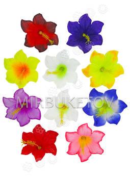 Искусственные Пресс цветы с тычинкой Гибискус, 90 мм