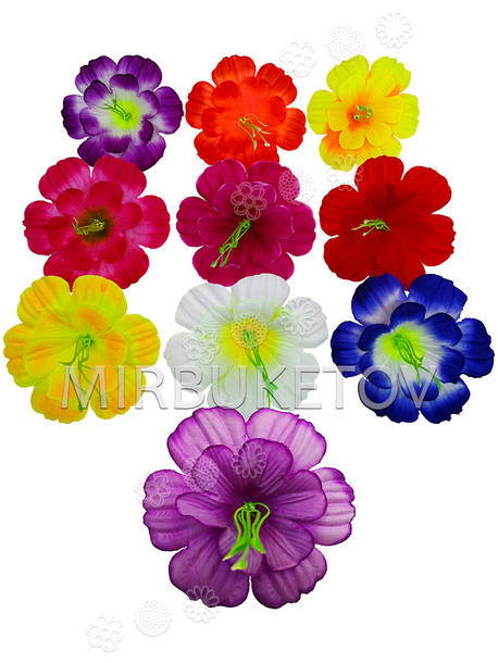 Искусственные Пресс цветы с тычинкой и вставкой Мальва, 120 мм