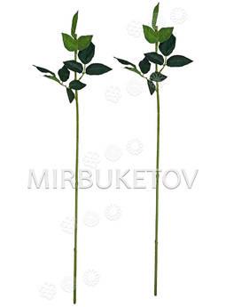 Ножка одиночная с резными листьями под розу, Люкс, 680 мм